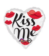 "18"" Kiss Me Lips Balloon Packaged"