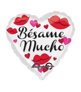 "18"" Bésame Mucho Balloon Packaged"