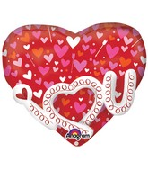 "22"" I Heart you Garland Multi-Balloon"