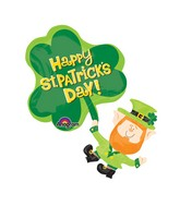 "33"" SuperShape St. Patty's Leprechaun Balloon"