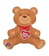 Jumbo Valentine Sitting Bear Balloon (Airfill Only)