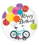 "28"" Happy Birthday Bike Balloons  Jumbo  Mylar Balloon"