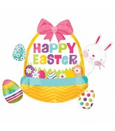 "34"" SuperShape Easter Basket Cluster Balloon Packaged"