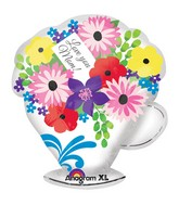 "19"" Junior Shape Love You Mom Teacup Balloon"
