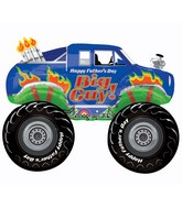 Large Shape Happy Father&#39s Day Monster Truck