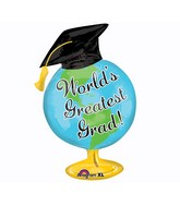Large Shape Greatest Grad Globe Balloon