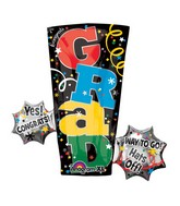 "30"" SuperShape Grad Letters Balloon"