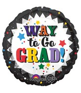 "18"" Way to Go Grad Confetti Grad"