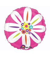 "21"" ColorBlast Colorful Daisy Balloon Packaged"