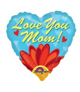 "9"" Aifill Only Love You Mom Daisy Balloon"