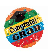 "4"" Airfill Only Congrats Grad Letters Balloon"