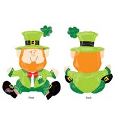 "22"" Airfill Only Sitting Leprechaun Balloon Packaged"