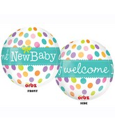 "16"" Welcome New Baby Orbz Balloons"