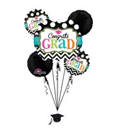 Bouquet Dream Big Chevron Balloon Packaged