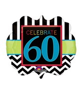 "25"" SuperShape Birthday Celebration 60 Balloon"