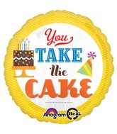 "18"" You Take the Cake Mylar Balloon"
