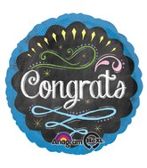 "18"" Chalk Board Congrats Balloon"