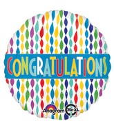 "18"" Congratulations Banner in Streamers Balloon"