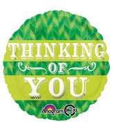 "18"" Green Chevron Thinking Of You Balloon"