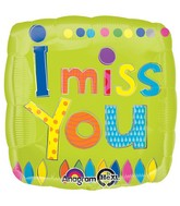 "18"" Young Art I Miss You Balloon Packaged"