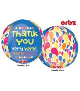 "16"" Thank You Very Much Orbz Balloons"