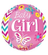 "16"" Beautiful Baby Girl Orbz Balloons"