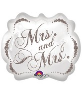 "25"" Sparkling Mrs. & Mrs. SuperShape"