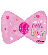 "27"" Little Princess Bow Mylar Balloon"