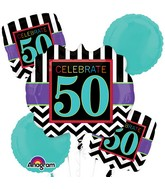 Bouquet Birthday Celebration 50 Balloon Packaged