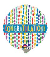 "9"" Airfill Only Congratulations Banner in Streamers Balloon"