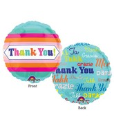 "4"" Airfill Only Multi Language Thank You Balloon"