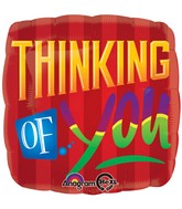 "28"" Jumbo Red Stripe Thinking of You Balloon"