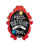 "31"" Chlkbrd Frame Birthday Mylar Balloon"