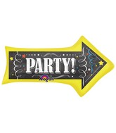 "36"" Chalkboard Birthday Arrow Mylar Balloon"