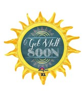 "29"" Chalkboard Sun Get Well SuperShape"
