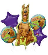 Bouquet Scooby Doo Birthday Balloon Packaged