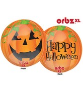 "16"" Orbz Pumpkin Balloon Packaged"
