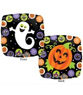 "18"" Halloween Circles Balloon Packaged"