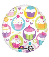 "18"" Cupcake Party Mylar Balloon"