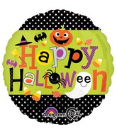 "18"" Halloween Polka Dots Balloon"
