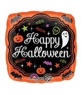 "18"" Halloween Chalkboard Balloon Packaged"