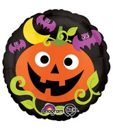 "18"" Pumpkin Time Balloon Packaged"