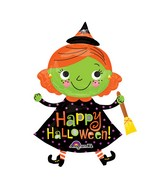 "37"" Halloween Cute Witch Balloon"