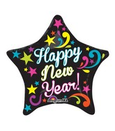 "21"" ColorBlast Neon Bright New Year Balloon"