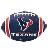 Junior Shape Houston Texans Team Colors Balloon