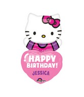 "32"" Personalized Jumbo Hello Kitty Balloon Packaged"