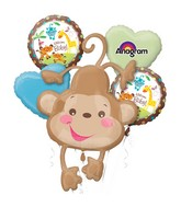 Bouquet Fisher Price Baby Monkey Balloon Packaged