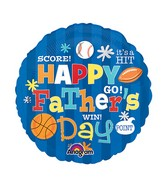 "9"" Aifill Only Happy Father&#39s Day Sports Balloon"
