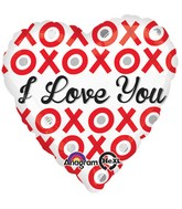 "18"" XOXO Love You Balloon Packaged"
