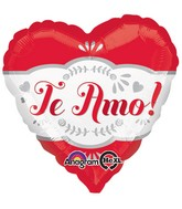 "18"" Te Amo Fancy Balloon Packaged"